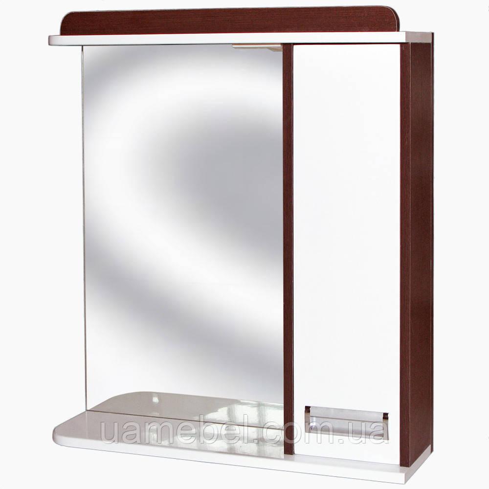 Зеркало в ванную З-1 Венге (45-105 см)