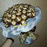 Букети з шоколадних цукерок Єдиною подарунковий вітальний їстівний, фото 2