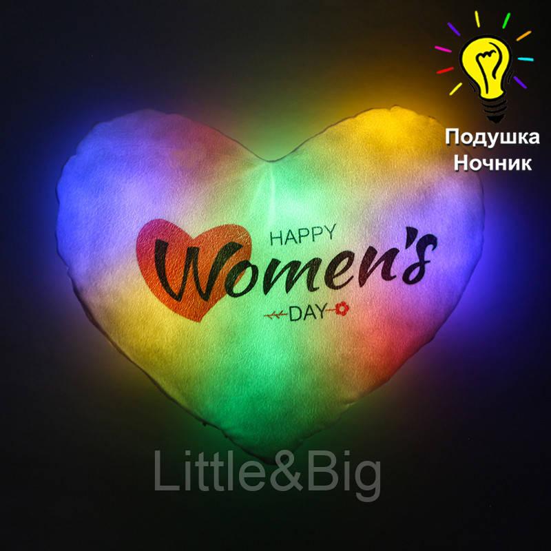 "Светящаяся подушка ""Women's day"""