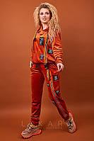 Женский костюм большого размера Likara / велюр / Украина 32-939, фото 1