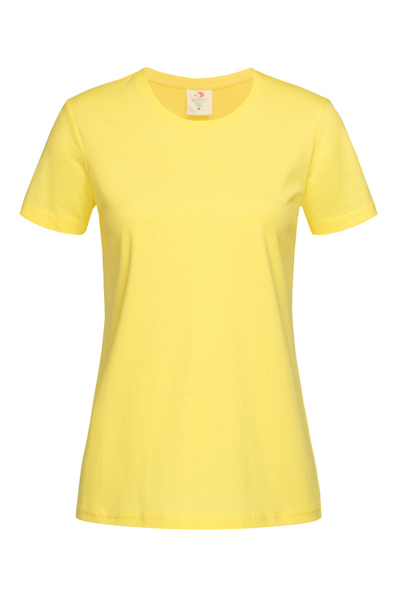 Футболка женская желтая с круглым вырезом Stedman - YELСТ2600