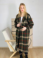 Женское демисезонное пальто из шерсти