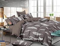 """Семейный размер постельного белье из бязи """"Воздушные перья"""""""