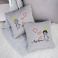 Набор сувенирных подушек вышивкой «Король и Королева» (28*28)  в расцветках