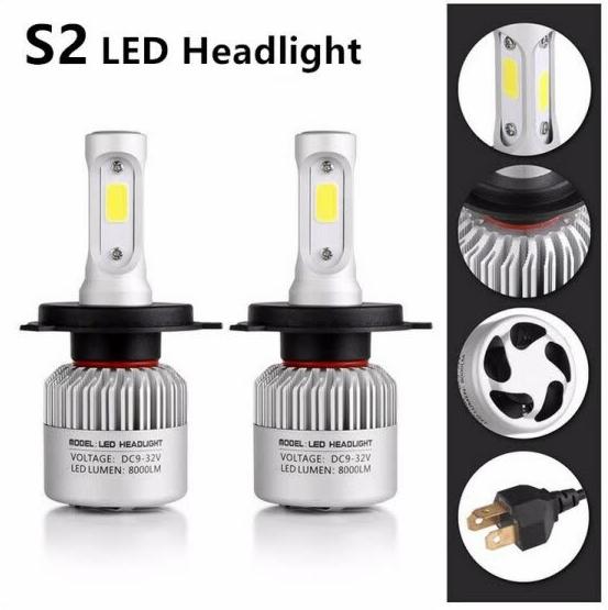 Светодиодные LED лампы в фары S2 H7 8000lm
