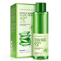 Тонер увлажняющий и освежающий с экстрактом алоэ вера Bioaqua Refresh & Moisture Aloe Vera 92% Toner