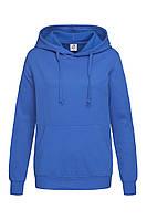 Худи, женская кофта с капюшоном синий электрик, кенгуру Stedman - BRRСТ4110
