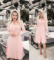 Елегантне плаття жіноче (4 кольори) ТК/-2187 - Пудровий, фото 1