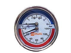 "Термоманометр FADO фронтальный Д63 ½"" 120°С 6 бар"