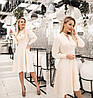 Елегантне плаття жіноче (4 кольори) ТК/-2187 - Молочний