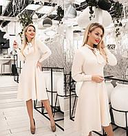 Элегантное платье женское (4 цвета) ТК/-2187 - Молочный, фото 1