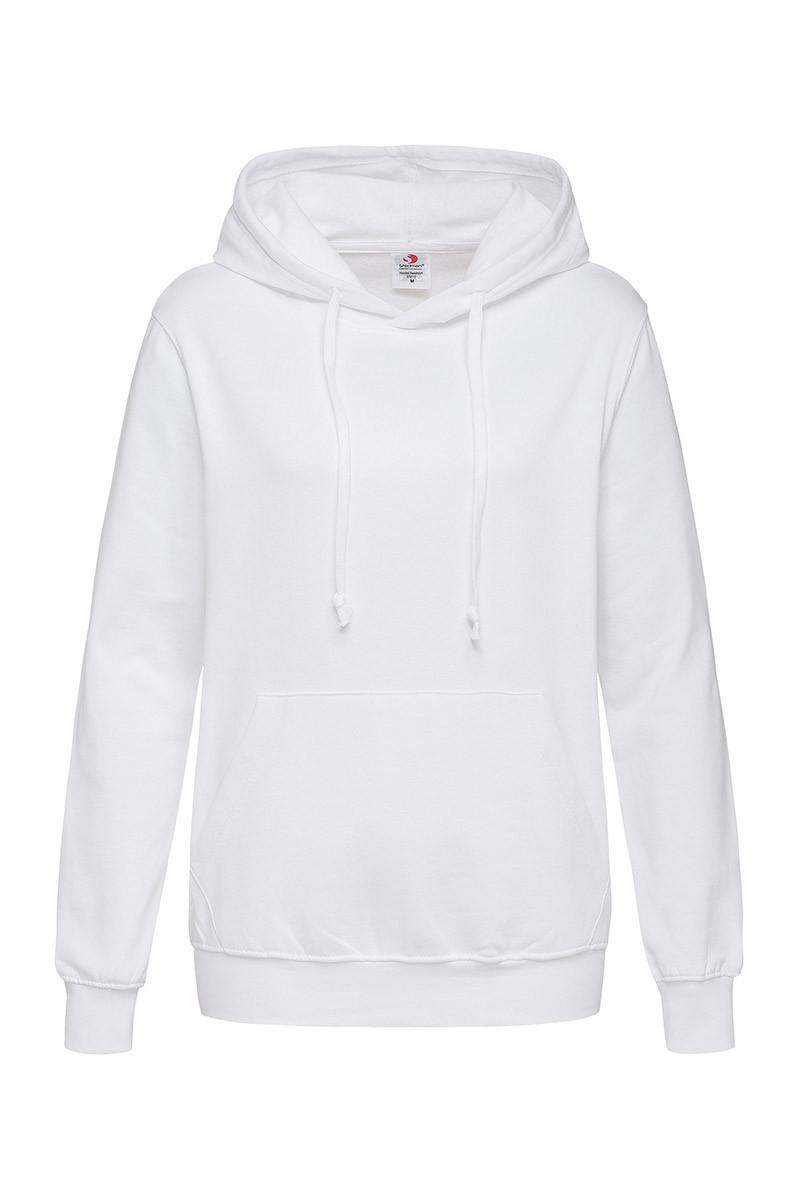 Худи, женская кофта с капюшоном белая, кенгуру Stedman - WHIСТ4110