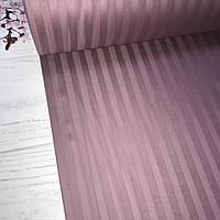Сатин 100% хлопок  (ТУРЦИЯ шир. 2,4 м) Stripes темно-лиловый