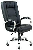 Компьютерное кресло Richman Альберто черное хром для офиса