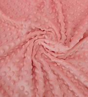 Плюшевая ткань Minky коралловый (плотность 280 г/м.кв)