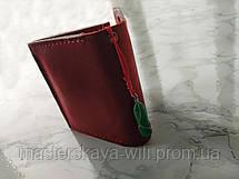 Символ денежного успеха   Кожаный кошелек ручной работы и амулет, фото 2