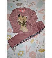 Детский спортивный костюмчик Кошка, очень милый, розовый