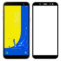 Защитное стекло Samsung J8 2018 Full Glue 9D Black