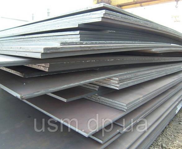 Лист 55 мм. стальной, марка ст.3ПС/СП; 20; 09г2с; 40; 40х; 45; 65г; 60с2а