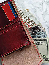 Символ любви | Кожаный кошелек ручной работы и амулет