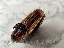 Символ любви | Кожаный кошелек ручной работы и амулет, фото 3