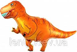 """Шар пленка фигурный """"Динозавр Тиранозавр"""" 100 см  Китай коричневый"""