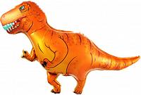 """Шар пленка фигурный """"Динозавр Тиранозавр"""" 100 см  Китай коричневый, фото 1"""