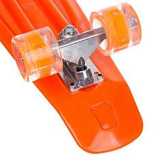 Скейтборд пластиковый Penny SK-881-2 с рисунком 56х15см, оранжевый, фото 2