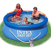Бассейн надувной семейныйIntex 28112, 244 х 76 см, синий, объем 2400 литров.