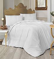 Комплект постельного белья Altinbasak ранфорс Nobby beyaz(простыня на резинке)
