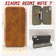 Чехол-книжка Gelius Leather для Xiaomi Redmi Note 7 (Коричневый)