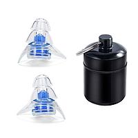 Беруши для музыкантов, диджеев, клубов и сна Silicone Ear Plugs Pro универсальные с контейнером Blue