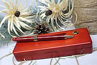 Лазерне гравіювання на дерев'яному пеналі з кульковою ручкою  Набір №6 Червоне дерево