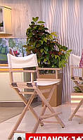 Стул для визажиста, складной, деревянный, стул режиссера, стул для фото сессии, Натурального цвета