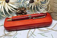 Лазерне гравіювання на дерев'яному пеналі з кульковою ручкою  Набір №2 Червоне дерево