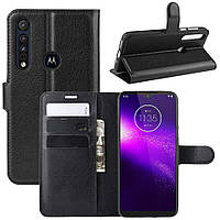 Чехол-книжка Litchie Wallet для Motorola One Macro / Moto G8 Play Black