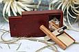 Деревянная флешка «Трансформер» с индивидуальной гравировкой Красное дерево на 32Gb (2.0) в шкатулке, фото 3