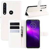 Чехол-книжка Litchie Wallet для Motorola One Macro / Moto G8 Play White