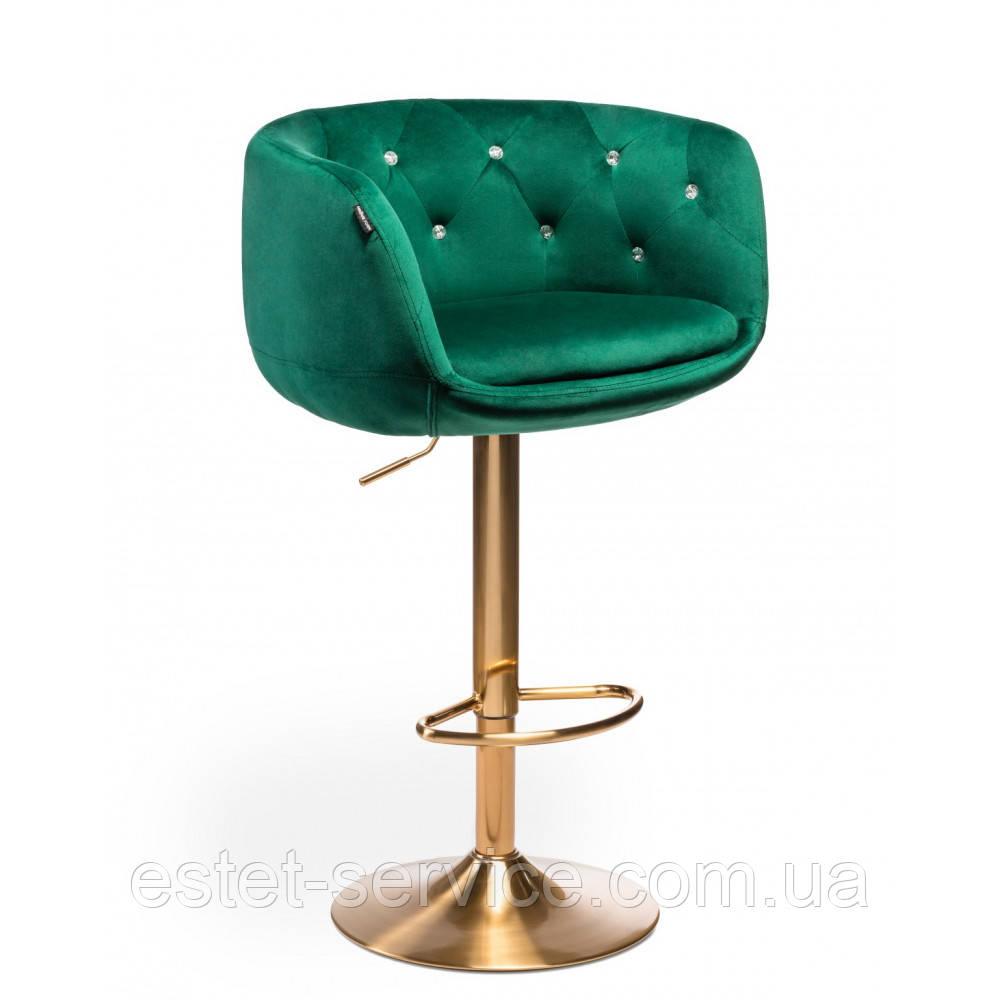 Кресло для визажа HROVE FORM HR333 на золотой основе в ЦВЕТАХ велюр