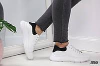 36 р. Кроссовки женские белые кожаные на подошве, из натуральной кожи, натуральная кожа, фото 1