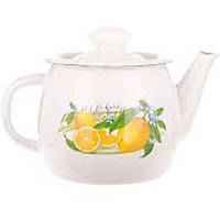 """Чайник емаль 1л """"Лимон"""" 0274 НМТЗ Білий /2707/2"""