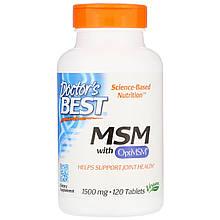 """Метилсульфонилметан Doctor's Best """"MSM with OptiMSM"""" для здоровья суставов, 1500 мг (120 таблеток)"""