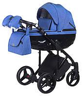 Детская коляска 2 в 1 Adamex Chantal C203 синий