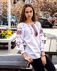 Підросткова блузка Діва, червоний орнамент