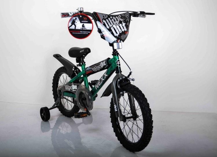 Детский двухколесный велосипед  (от 5 лет) на 16 дюймов  NEXX BOY Зеленый