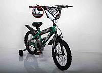 Детский двухколесный велосипед  (от 5 лет) на 16 дюймов  NEXX BOY Зеленый, фото 1
