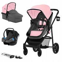 Универсальная коляска 3 в 1 Kinderkraft Juli Pink