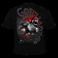 Футболка мужская для бодибилдинга Silberrücken Gorilla Power 7 черная XL