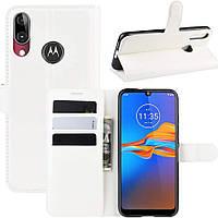 Чехол-книжка Litchie Wallet для Motorola Moto E6 Plus White
