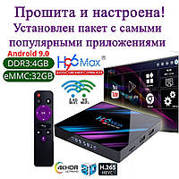 СМАРТ ПРИСТАВКА H96 MAX 4/32GB ANDROID SMART TV BOX